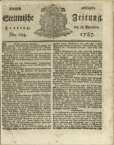 Königlich privilegirte Stettinische Zeitung. 1787 No. 104 + Beylage
