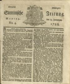 Königlich privilegirte Stettinische Zeitung. 1788 No. 4 + Beylage