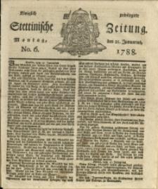 Königlich privilegirte Stettinische Zeitung. 1788 No. 6 + Beylage