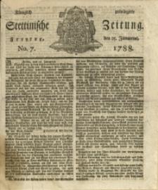 Königlich privilegirte Stettinische Zeitung. 1788 No. 7 + Beylage