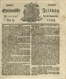 Königlich privilegirte Stettinische Zeitung. 1788 No. 8 + Beylage