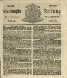 Königlich privilegirte Stettinische Zeitung. 1788 No. 9 + Beylage