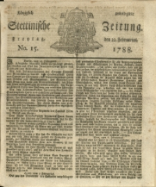 Königlich privilegirte Stettinische Zeitung. 1788 No. 15 + Beylage