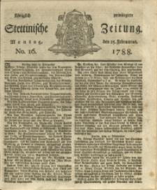 Königlich privilegirte Stettinische Zeitung. 1788 No. 16