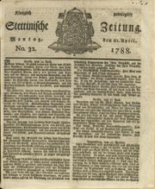 Königlich privilegirte Stettinische Zeitung. 1788 No. 32 + Beylage