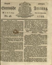 Königlich privilegirte Stettinische Zeitung. 1788 No. 48