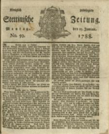 Königlich privilegirte Stettinische Zeitung. 1788 No. 50
