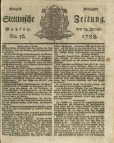 Königlich privilegirte Stettinische Zeitung. 1788 No. 56 + Beylage