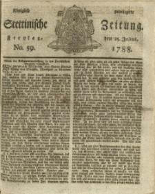 Königlich privilegirte Stettinische Zeitung. 1788 No. 59