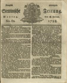Königlich privilegirte Stettinische Zeitung. 1788 No. 60 + Beylage