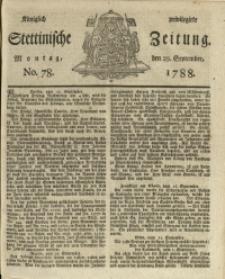 Königlich privilegirte Stettinische Zeitung. 1788 No. 78 + Beylage