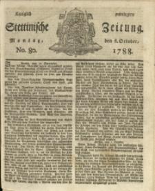 Königlich privilegirte Stettinische Zeitung. 1788 No. 80 + Beylage