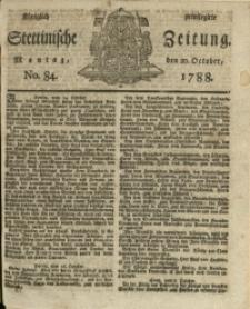 Königlich privilegirte Stettinische Zeitung. 1788 No. 84 + Beylage