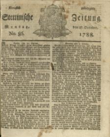 Königlich privilegirte Stettinische Zeitung. 1788 No. 86 + Baylage