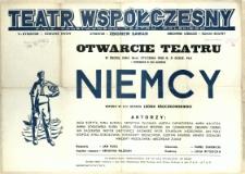 [Afisz] Niemcy : sztuka w 3-ch aktach Leona Kruczkowskiego