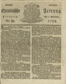 Königlich privilegirte Stettinische Zeitung. 1788 No. 89