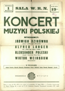 [Afisz] Koncert Muzyki Polskiej