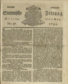 Königlich privilegirte Stettinische Zeitung. 1792 No. 37