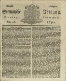 Königlich privilegirte Stettinische Zeitung. 1792 No. 41