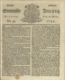 Königlich privilegirte Stettinische Zeitung. 1792 No. 42