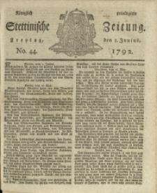 Königlich privilegirte Stettinische Zeitung. 1792 No. 44