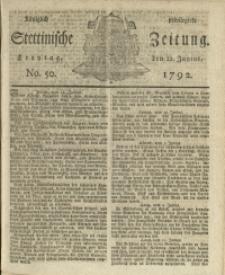 Königlich privilegirte Stettinische Zeitung. 1792 No. 50