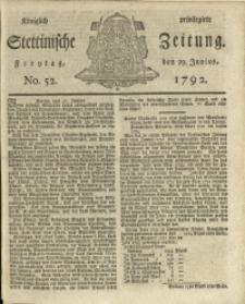 Königlich privilegirte Stettinische Zeitung. 1792 No. 52