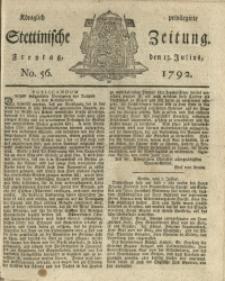 Königlich privilegirte Stettinische Zeitung. 1792 No. 56 + Beylage