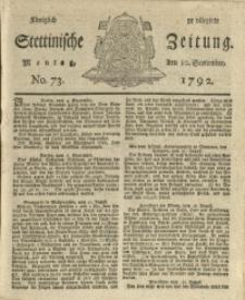 Königlich privilegirte Stettinische Zeitung. 1792 No. 73 + Beylage