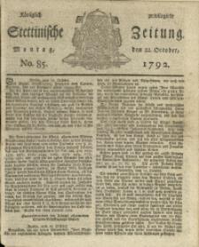 Königlich privilegirte Stettinische Zeitung. 1792 No. 85 + Beylage