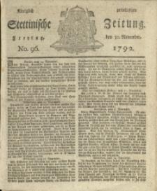 Königlich privilegirte Stettinische Zeitung. 1792 No. 96