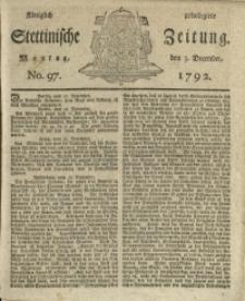 Königlich privilegirte Stettinische Zeitung. 1792 No. 97 + Beylage