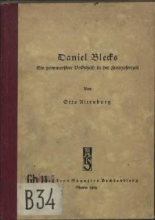 Daniel Blecks : ein pommerscher Volksheld in der Franzosenzeit