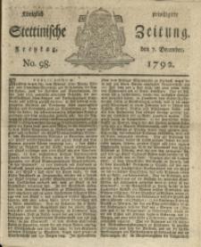 Königlich privilegirte Stettinische Zeitung. 1792 No. 98