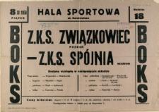 [Afisz] Z.K.S. Związkowiec Poznań - Z.K.S. Spójnia Szczecin