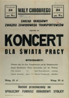 [Afisz] Koncert dla Świata Pracy