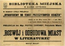 [Afisz. Inc.:] Biblioteka Miejska w Służbie Czytelnika