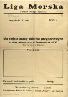 [Afisz] Liga Morska Zarząd Okręgu Szczecin