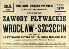 [Afisz] Zawody Pływackie Wrocław - Szczecin