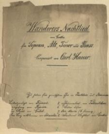 Wanderers Nachtlied : von Goethe: für Sopran, Alt, Tenor und Bass