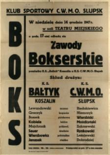 [Afisz. Inc.:] Zawody Bokserskie