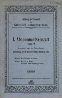 Abonnementskonzert : 1906/7. 1
