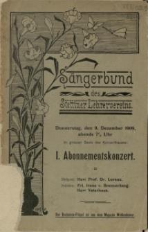 Abonnementskonzert : 1909. 1