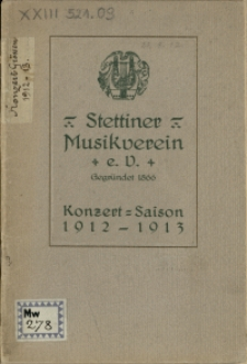 Konzert-Saison 1912-1913