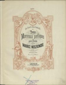 Trois moreceaux poétiques : pour Piano : Op. 42