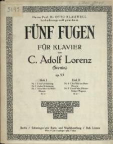 Fünf Fugen : für Klavier : Op. 95 H. 2