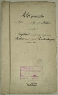 Die Duplicate des Kirchenbuchs von Reckow und Gross Borckenhagen