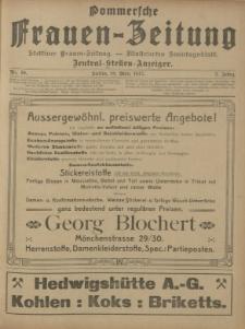 Pommersche Frauen-Zeitung : Stettiner Frauenzeitung : illustriertes Sonntagsblatt. 1912 Nr.11