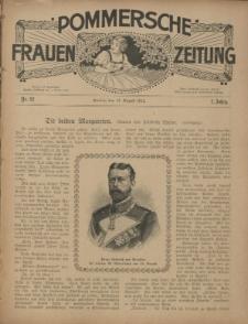 Pommersche Frauen-Zeitung : Stettiner Frauenzeitung : illustriertes Sonntagsblatt. 1912 Nr.32