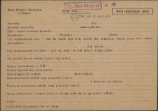 Karta rejestracyjna matek